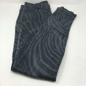 Mother 28 The Looker Skinny Jean Tiger Gray E4